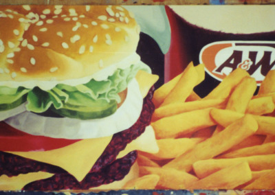 Hand-painted outdoor signage for A&W Restaurants (w/Barney Judge)